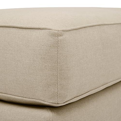 33W Stone /& Beam Dalton Performance Fabric Ottoman Sand