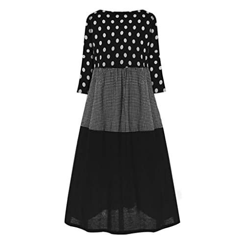 UJGYH Womens Casual Loose Button Long Sleeve Linen Plus Size Print Boho Tunic Shirt Blouse Tops