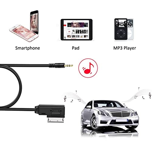 CHELINK Mercedes MI Media-in Aux Music Interface Audio Cable Adapter Compatible for IP Xs Max XR X 8 7 Plus for Selected Mercedes Benz MB Models Audio /& Charging 3ft //1M