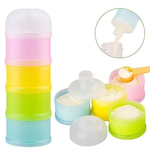 Portable Travel Milk Powder Formula Container Candy Fruit Snack Storage Container with Scoop and Leveller Transparent On-The-Go Zooawa Baby Formula Dispenser BPA Free Blue