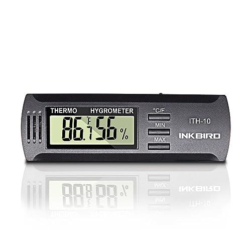 Inkbird ITH-20 Digital LCD Thermometer Hygrometer Temp Humidity Data Monitor C//F