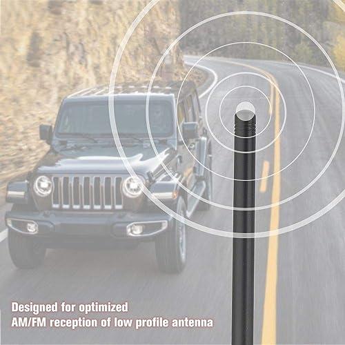 TrunkNets Inc 13/″ Antenna MAST FITS 2020 Jeep JK Wrangler 2007