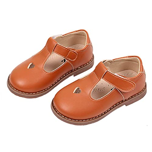 Lnafan Girls/' Cute Soft Leather T-Strap Oxfords Shoes Sweet Mary Jane Flats Toddler//Little Kid//Big Kid
