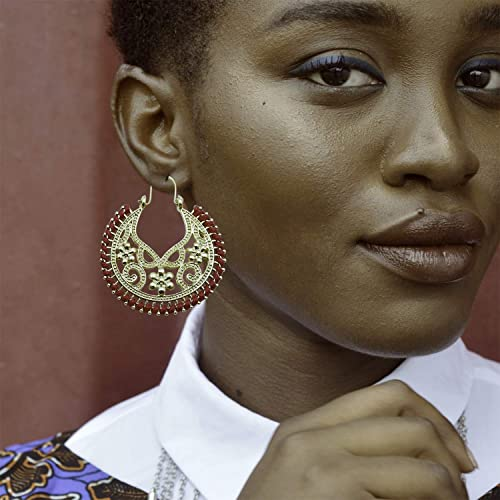 VANA JEWELRY Hoop Earrings for Women Hypoallergenic Rose Gold Tassel Dangle Long Drop Sterling Silver Diamond Cubic Zirconia Stud Earrings for Sensitive Ears Blue Yellow Teen Girls Earring w//Gift Box