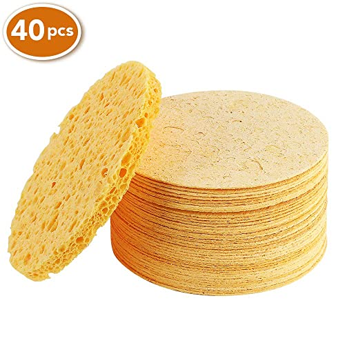 Facial Sponges Compressed Natural Cellulose Facial Sponge For