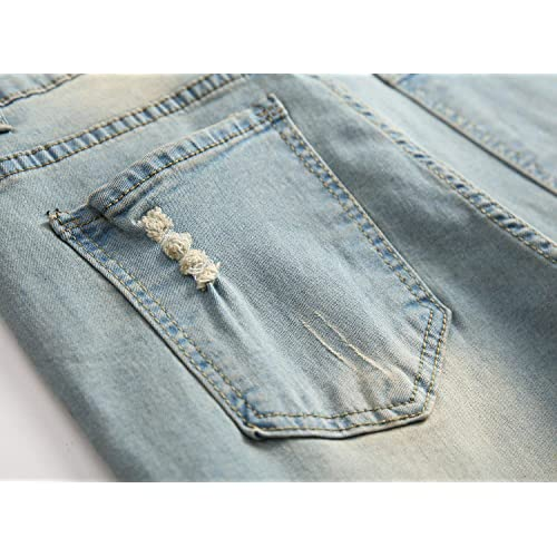 AACFCHAIN Boys Jeans Fashion Stretch Slim Straight Fit Elastic Pants Outfits