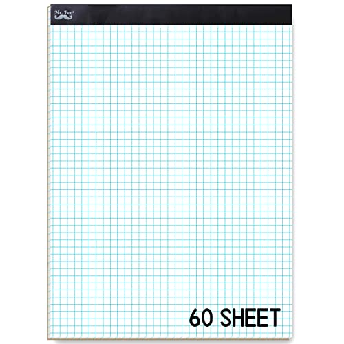 1 Pad Quadrille Rule 4 Squares//Inch White 50 Sheets//Pad Letter Size TOPS Cross Section Pad 35041 1 Pad