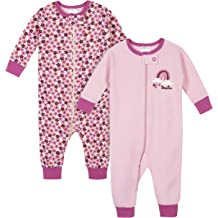 GERBER Baby Girls 2-Pack Thermal Unionsuit